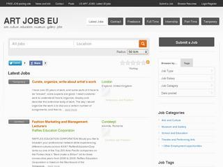 ART JOBS EU - Free European Job Posting Site