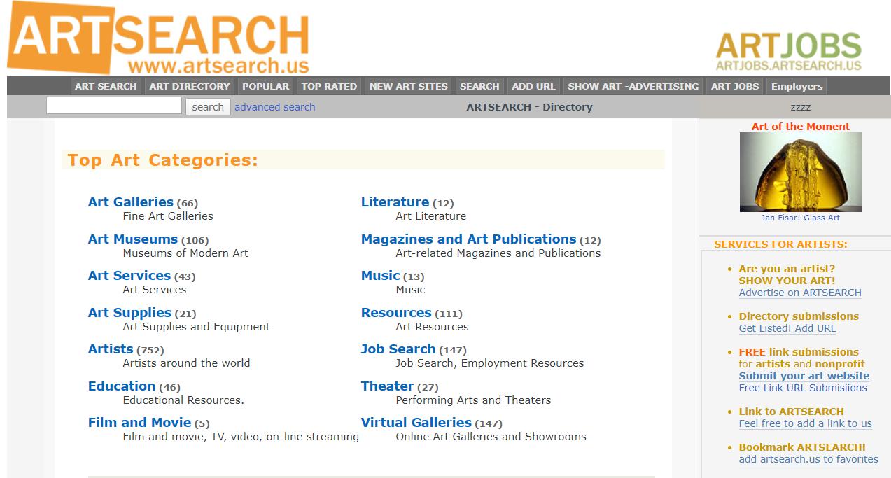 OXO Artists: FREE Art Directory listing - add url